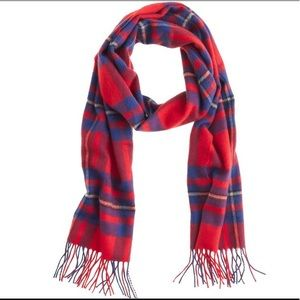 J Crew Cashmere Scarf in Plaid in Red for men